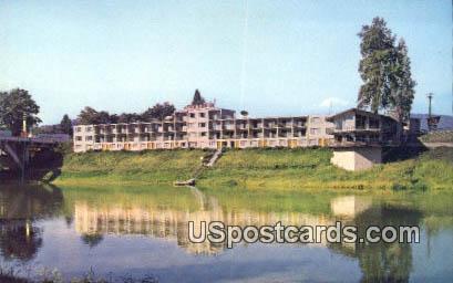 Riverside Motel & Restaurant - Grants Pass, Oregon OR Postcard