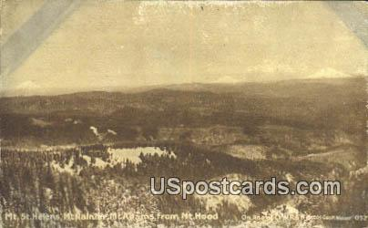 Mt St Helens - Mt Hood, Oregon OR Postcard