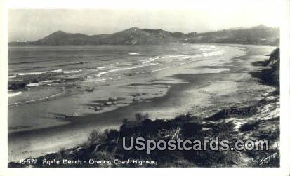 Real Photo Agate Beach - Oregon Coast Highway Postcards, Oregon OR Postcard