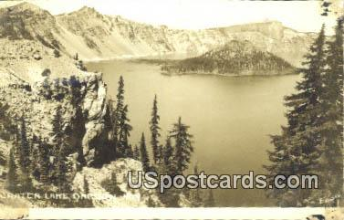 Real Photo - Crater Lake, Oregon OR Postcard