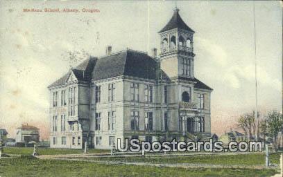 Madison School - Albany, Oregon OR Postcard