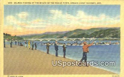 Salmon Fishing, Rogue River - Oregon Coast Highway Postcards, Oregon OR Postcard