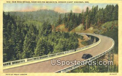 Sam Reed Bridge - Oregon Coast Highway Postcards, Oregon OR Postcard