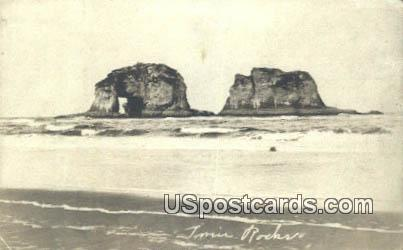 Twin Rocks - Misc, Oregon OR Postcard