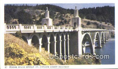 Rogue River - Oregon Coast Highway Postcards, Oregon OR Postcard