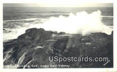 Real Photo Pounding Surf - Oregon Coast Highway Postcards, Oregon OR Postcard