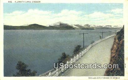 Klamath Lake, OR Postcard       ;       Klamath Lake, Oregon