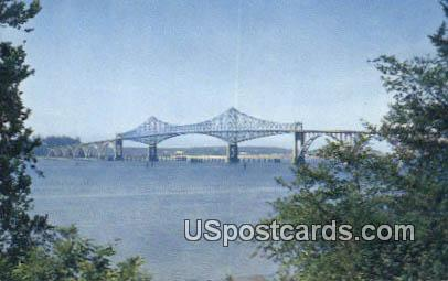 Coos Bay Bridge - North Bend, Oregon OR Postcard