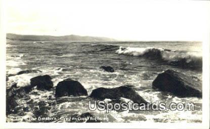 Real Photo Breakers - Oregon Coast Highway Postcards, Oregon OR Postcard