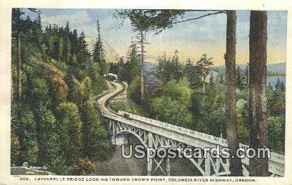 Latourelle Bridge - Columbia River Highway, Oregon OR Postcard