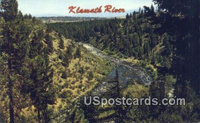 Klamath River - Klamath Falls, Oregon OR Postcard