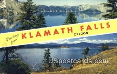 Klamath Falls, OR Postcard       ;       Klamath Falls, Oregon