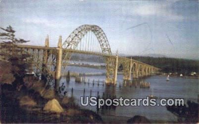 Yaquina Bridge - Oregon Coast Highway Postcards, Oregon OR Postcard
