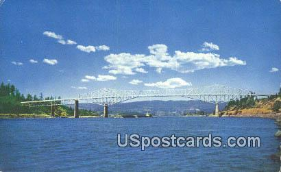 Bridge of the Gods - Columbia River, Oregon OR Postcard