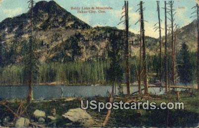 Baldy Lake & Mountain - Baker City, Oregon OR Postcard