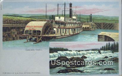 Cascade Locks - Misc, Oregon OR Postcard