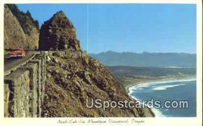 Neah-Kah-Nie Mountain Viewpoint - Misc, Oregon OR Postcard