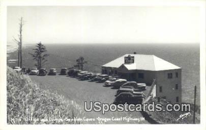 Real Photo -  Sea Lion Caves - Oregon Coast Highway Postcards, Oregon OR Postcard