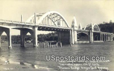 Real Photo - Florence Bridge - Oregon Coast Highway Postcards, Oregon OR Postcard
