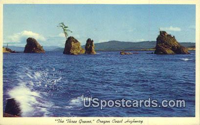 Three Graces - Oregon Coast Highway Postcards, Oregon OR Postcard