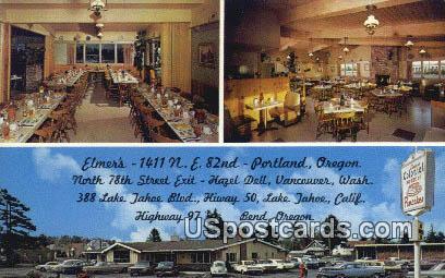 Elmer's - Portland, Oregon OR Postcard