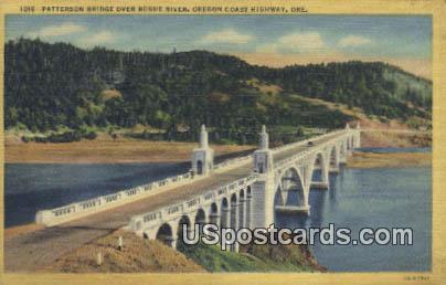 Patterson Bridge - Oregon Coast Highway Postcards, Oregon OR Postcard