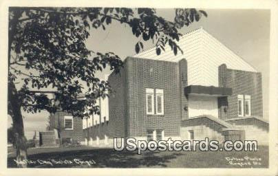 Real Photo - atter Day Saints Chapel - Misc, Oregon OR Postcard