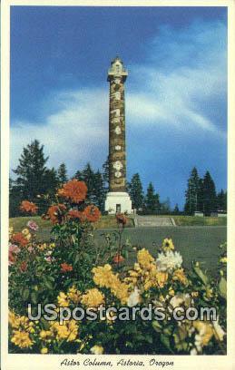 Astor Column - Astoria, Oregon OR Postcard