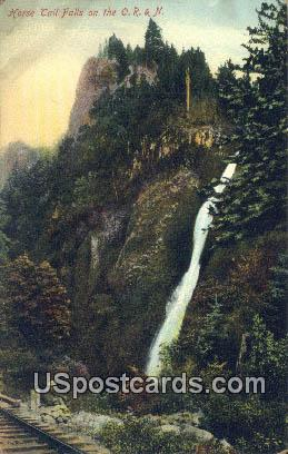 Horsetail Falls - Misc, Oregon OR Postcard