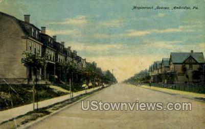 Maplewood Ave - Ambridge, Pennsylvania PA Postcard