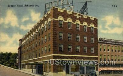 Loeper Hotel - Ashland, Pennsylvania PA Postcard
