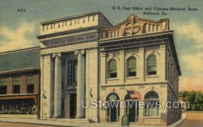US Post Office - Ashland, Pennsylvania PA Postcard