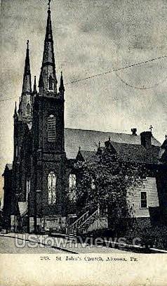 St. John's Church - Altoona, Pennsylvania PA Postcard