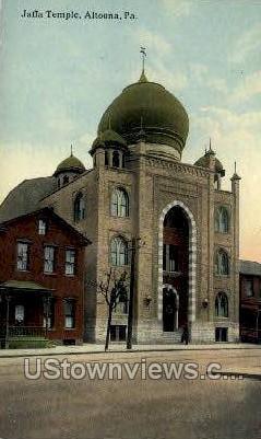 Jaffa Temple - Altoona, Pennsylvania PA Postcard