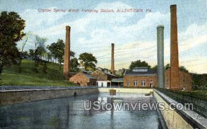 Crystal Spring Pumping Station - Allentown, Pennsylvania PA Postcard