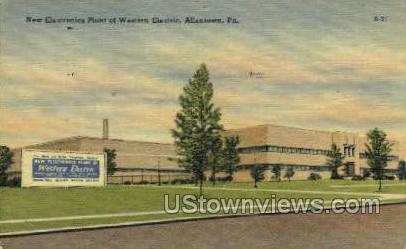 Electronics Plant Western Electric - Allentown, Pennsylvania PA Postcard