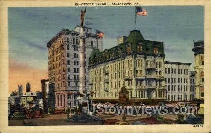 Center Square - Allentown, Pennsylvania PA Postcard