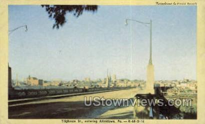 Tilghman St. - Allentown, Pennsylvania PA Postcard