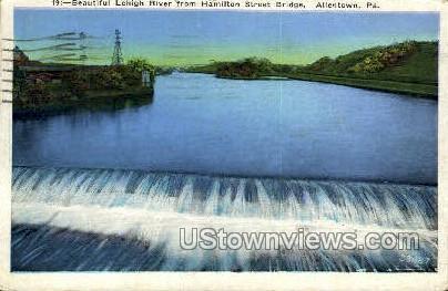 Lehigh River - Allentown, Pennsylvania PA Postcard