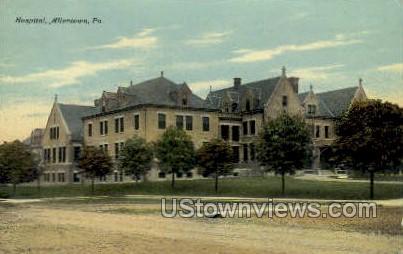 Hospital, Allentown - Pennsylvania PA Postcard