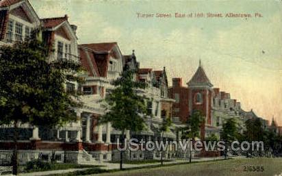 Turner Street - Allentown, Pennsylvania PA Postcard