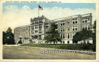 Edward Harvey Memorial - Allentown, Pennsylvania PA Postcard