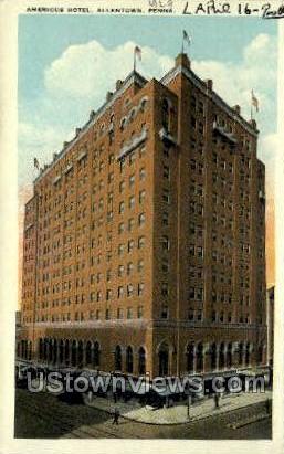 Americus Hotel - Allentown, Pennsylvania PA Postcard