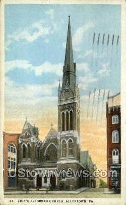 Zion's Reformed Church - Allentown, Pennsylvania PA Postcard