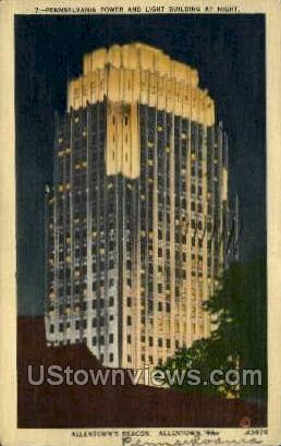 Power & Light Bldg - Allentown, Pennsylvania PA Postcard