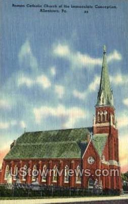 Roman Catholic Church - Allentown, Pennsylvania PA Postcard