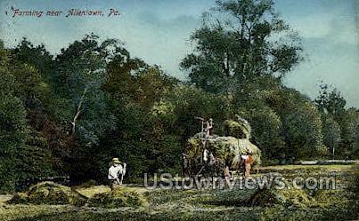 Farming - Allentown, Pennsylvania PA Postcard