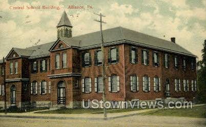 Central School Bldg. - Altoona, Pennsylvania PA Postcard
