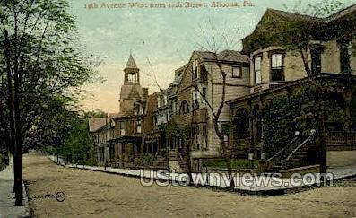 14th Ave. West - Altoona, Pennsylvania PA Postcard