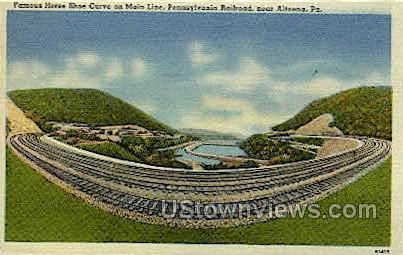 Horseshoe Curve - Altoona, Pennsylvania PA Postcard